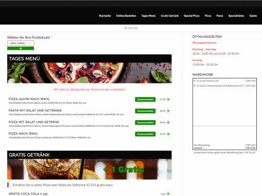 Webdev: Pizzaria Bestellsystem