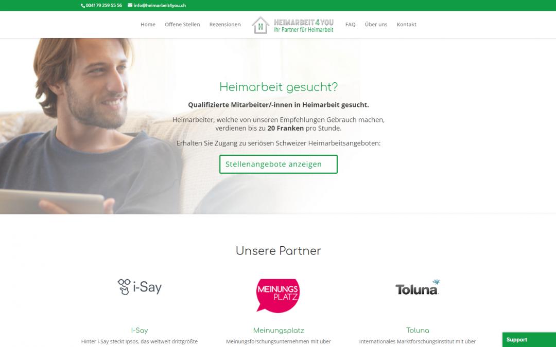 Webdesign heimarbeit4you.ch