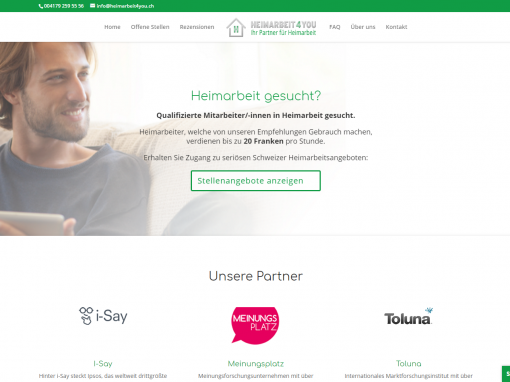 Webdesign heimarbeit4you.ch