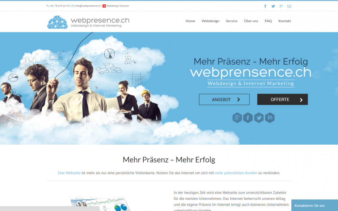 Webdesign: Webpresence