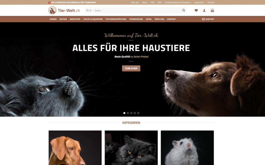 Onlineshop für Tierbedarf