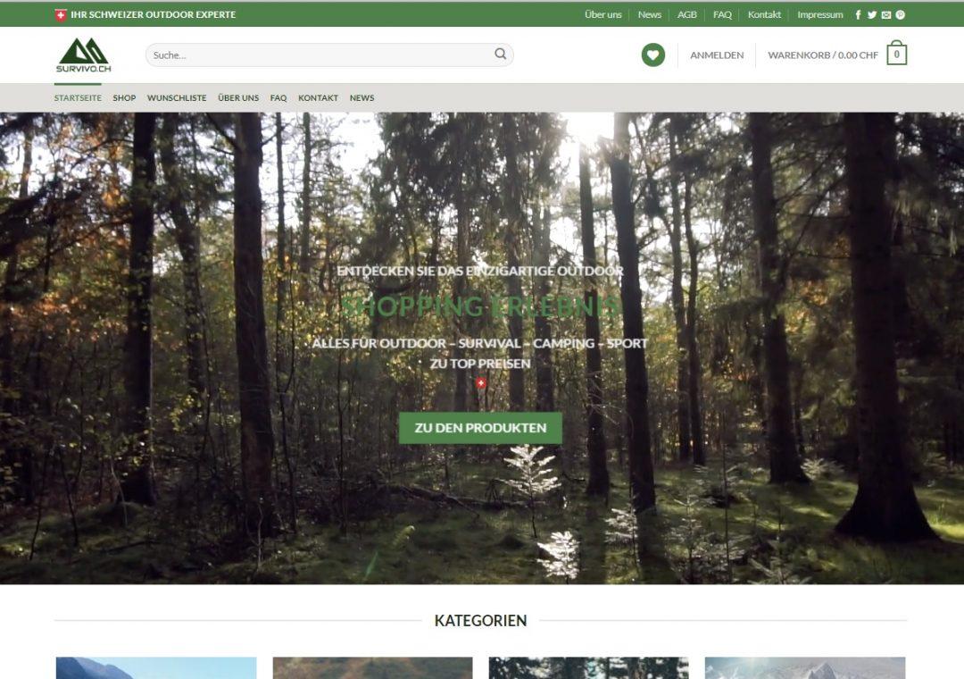 Onlineshop Survivo.ch