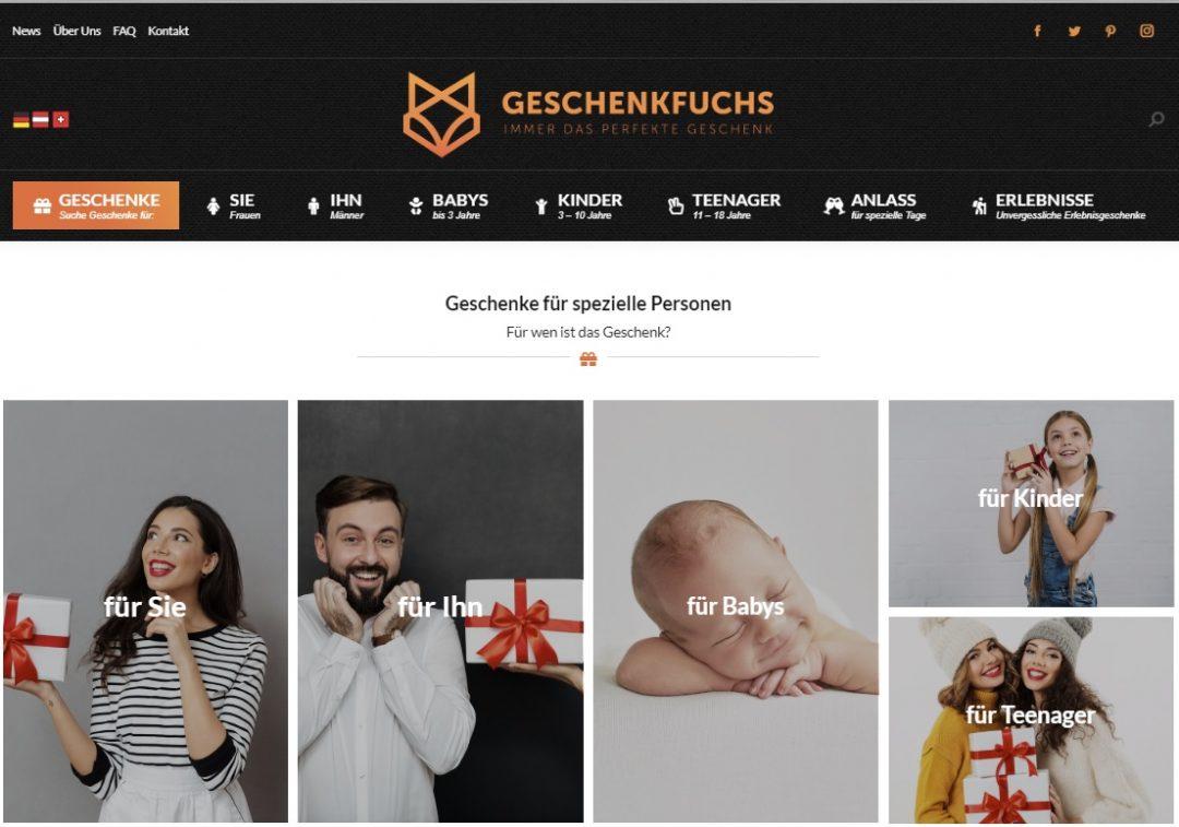 Geschenkportal Geschenkfuchs.com